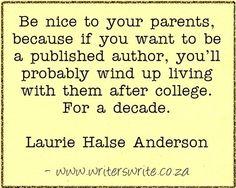 –Laurie Halse Anderson