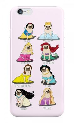 Disney Pug Princesses iPhone Case #puglife