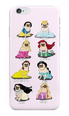 Disney Pug Princesses iPhone Case #puglife