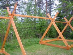 På begäran kommer här konstruktionsbilderna av vikingatältet. Tälten har samma dimensioner förutom på längden. Detta tält är inte en rekon...