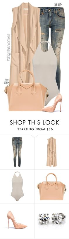 """Styling and Profiling"" by highfashionfiles ❤ liked on Polyvore featuring R13, Givenchy, Casadei and Chopard"