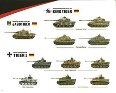 Tiger tank family tree