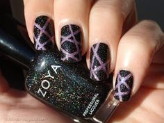 A diary of a nail polish addict: Zoya Storm & Purple Holographic Stripes