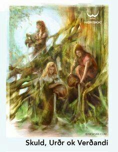 Nornassão deusas damitologia nórdica. A sua função de controlar o destino, asorte, oazare aprovidência, quer dos homens quer dos deuses, e zelar pelo cumprimento e conservação das leis que regem as realidades doshomens, dosAesires, doselfos, dosanões, etc...  Diz-se que nasceram da fonte de Urð, fonte da vida, onde cresce o grande freixoYggdrasill, que guardam. Todas as manhãs fazem chover hidromel sobre suas raízes, para que as folhas permaneçam verdes.