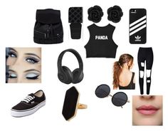 """""""panda"""" by tearbear118 on Polyvore featuring WithChic, Vans, adidas, Beats by Dr. Dre, Boohoo, Gucci and Jaeger"""