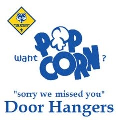 Write in your Pack / Scout info, and earn more popcorn sales this year!(Print on Cardstock and cut to size)
