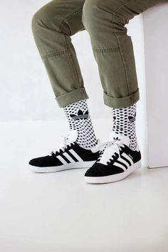 adidas Gazelle 2 + White Trefoil Dot Sock Buy it @urbanoutfitters.com