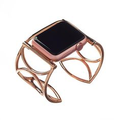 The Cleo 38mm apple watch cuff in rose gold or black.