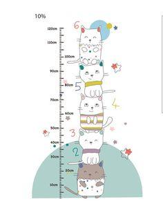 Sticker toise bébé thème Chat perché MULTICOLORE - vertbaudet enfant