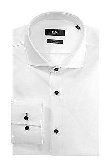 Slim-fit business shirt 'Jaser' in easy-iron cotton, White