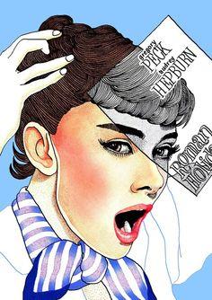 I admire her, Audrey Hepburn - Hajin Bae #audreyhepburn #illustration #art