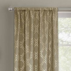 Better Homes and Gardens Metallic Trellis Gold or Silver Foil Curtain Panel