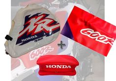 KIT SEAT COVER & TANK COVER & REAR FENDER BAGS HONDA XR 600 600R,FREE SHIPPING!! #tsl