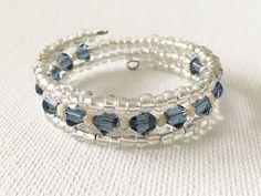 Elegant Crystal Memory Wire Bracelet
