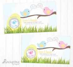 Spring Bird Egg Custom Made Gender Reveal by EnchantingByDesign, $5.99