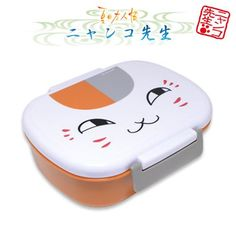 Natsumes Book of Friends Nyanko Sensei Plastic Bento Box Face -- Learn more by visiting the image link.
