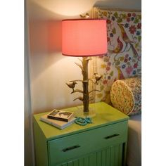 love this lamp! and that headboard!