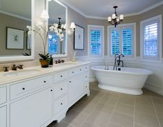 Lynch Residence traditional bathroom - tile floors