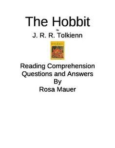 The Hobbit  Printables Worksheets Book Unit Reading Comprehension