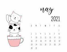 Cat Calendar, Free Calendar, Print Calendar, Calendar Design, 2021 Calendar, Monthly Planner Printable, Printable Calendar Template, List Template, Weekly Planner