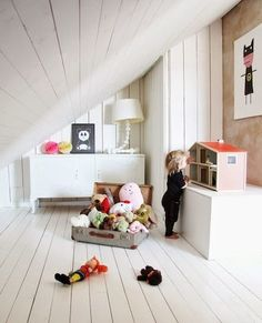 The Perfect Swedish Style Nursery Has All the White Stuff | This minimalist look is so different, but cool!