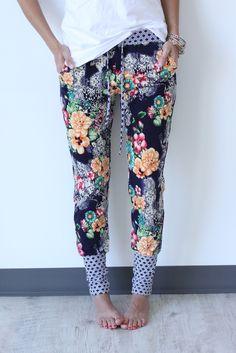 Garden Loungers / Floral Joggers / Floral Harem Pants