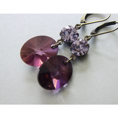 Swarovski Crystal Earrings, Oval Jewelry, Vintage Style Earrings,... ($24) ❤ liked on Polyvore featuring jewelry and earrings