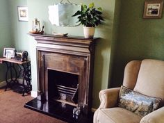 My newly decorated dining room in Laura ashley hedgerow 1930s House, Laura Ashley, Colour Schemes, Bedroom Ideas, Vanilla, New Homes, Dining Room, Lounge, Home Appliances
