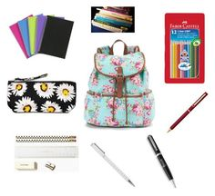 """Alexis' school supplys"" by kelliemccarthy-1 ❤ liked on Polyvore featuring Candie's, Harrods, Kate Spade, Faber-Castell, Motel and S.T. Dupont"