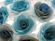 tiffany blue paper blooms