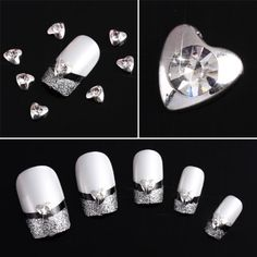 Vip Beauty Shop Wholesale 50 Pcs 3d Hearts Alloy Rhinestone Nail Art Glitter DIY Decoration 003 -- To view further for this item, visit the image link.