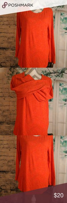 """Old Navy orange top A Old Navy Orange Top. Very cute and feels great! Top is in excellent condition, practically new!! Feels soft and kind of stretchy . Top is long sleeved. Top is about 27"""" long and the Bust is about 19"""". Any questions, please ask! Old Navy Tops"""
