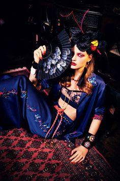 milan van eeeten by ellen von unwerth for vogue japan june 2016.