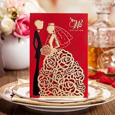 Purple And Silver Wedding Invitations Personalized Wedding Invitations Cards Red Color With Hollow Lace Gold Dress Bridal And Groom Laser Cut Party Cards Dhl Fast Shipment New Wedding Invitation Wordings For Friends From Smile_angel, $1.39| Dhgate.Com