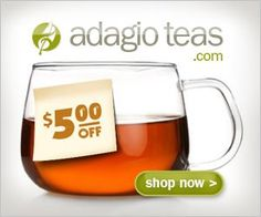 Yummy treat! Here is a $5 gift certificate to Adagio Teas: 6743029284. Expires in 24 hours. http://www.adagio.com/