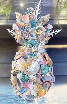 Seashell Painting, Seashell Art, Seashell Crafts, Seahorse Crafts, Beach Themed Crafts, Sea Crafts, Nature Crafts, Tin Can Crafts, Arts And Crafts