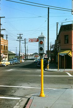 Acme Traffic Signal  Sunset & Spring 19560318 by...