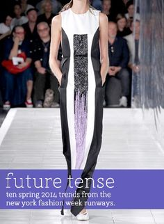 fashion forecasting inspiration Future Tense: Ten Spring 2014 Trends from the NYFW Runways #bePickie