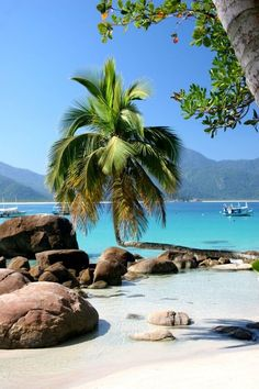 Praia do Aventureiro, Ilha Grande, Brasil - Beautiful beaches are bountiful. Places Around The World, Oh The Places You'll Go, Places To Travel, Travel Destinations, Places To Visit, Around The Worlds, Dream Vacations, Vacation Spots, Vacation Places