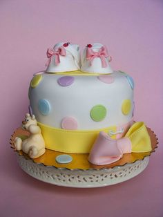 Baby booties cake by bubolinkata, via Flickr