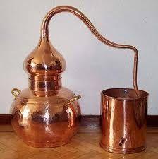 Distillery 1 liter * Alambicco * Alambique * Alembic * Still * handmade copper Destilar Alcohol, Still Spirits, Copper Still, Herb Farm, Homemade Wine, Homemade Moonshine, Handmade Copper, Handmade Decorations, Distillery