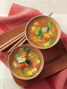 ラタトゥイユ味噌汁 Ratatouille miso soup