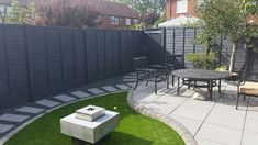Fence painted with urban slate cuprinol....will be using in my new home