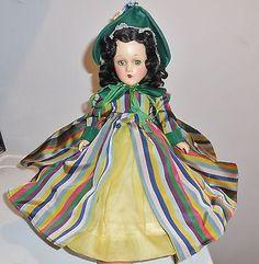 1940s ULTRA RARE Madame Alexander Scarlett O'Hara Portrait Doll Unique Gown Box