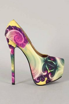 Cool shoes.. If you wear the right color of top, you can rock this..