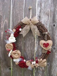 Valentine's Day Wreath Sweetheart's Wreath by rosepetalpretties