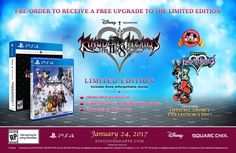 The KINGDOM HEARTS HD 2.8 FINAL CHAPTER PROLOGUE LIMITED EDITION  includes an exclusive official Disney collector's pin while supplies last....