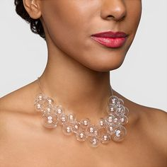 """Bubble Necklace Marina and Susanna Sent, 2001  """"People love it and it has become a MoMA Design Store classic. It looks great for any occasion, from a wedding to wearing with a t-shirt."""" - Colleen"""