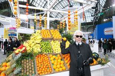 Chanel Brings Out the Stars . and Their Shopping Carts: Karl Lagerfeld brought out the A-listers for Chanel's Fall 2014 show during Paris Fashion Week on Tuesday. Karl Lagerfeld, Chanel Cruise, Anna Wintour, Claudia Schiffer, Transformers, Tweed, Fendi, Supermarket Sweep, Chanel Outfit