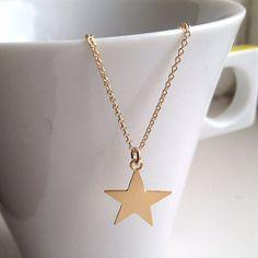 Goldenen Stern Halskette Stern Schmuck Gold Filled Halskette